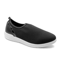 Tênis Feminino Confortável para Esporão de Calcâneo - New Indiana Preto - PR633018PR - Pé Relax Sapatos Confortáveis