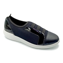 Tênis Feminino Confortável para Fascite Plantar - Preto / Preto - PR633019PP - Pé Relax Sapatos Confortáveis