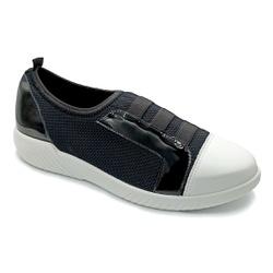 Tênis Feminino Confortável para Fascite Plantar - Preto / Branco - PR633019PR - Pé Relax Sapatos Confortáveis