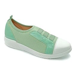 Tênis Feminino Confortável para Fascite Plantar - Verde - PR633019VE - Pé Relax Sapatos Confortáveis