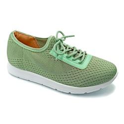 Tênis Feminino Confortável para Esporão e Fascite - Verde - PR698003VE - Pé Relax Sapatos Confortáveis