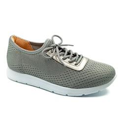 Tênis Feminino Confortável para Esporão e Fascite - Cinza - PR698003CZ - Pé Relax Sapatos Confortáveis