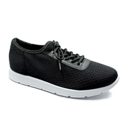 Tênis Feminino Confortável para Esporão e Fascite - Preto - PR698003PR - Pé Relax Sapatos Confortáveis