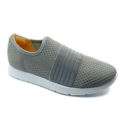 Tênis Feminino Confortável para Esporão e Fascite - Cinza - PR698004CZ - Pé Relax Sapatos Confortáveis