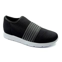 Tênis Feminino Confortável para Esporão e Fascite - Preto - PR698004PR - Pé Relax Sapatos Confortáveis