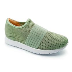 Tênis Feminino Confortável para Esporão e Fascite - Verde - PR698004VE - Pé Relax Sapatos Confortáveis