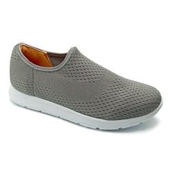 Tênis Feminino Confortável para Fascite e Esporão - Cinza - PR698005CZ - Pé Relax Sapatos Confortáveis