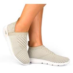 Tênis Feminino para Caminhada E Joanete - Bege - KOK8484BE - Pé Relax Sapatos Confortáveis