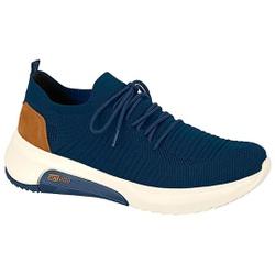 Tênis em Knit para Joanete e Esporão - Marinho - ACT4907-101MA - Pé Relax Sapatos Confortáveis