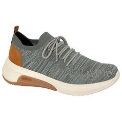 Tênis em Knit para Joanete e Esporão - Cinza - ACT4907-101CZ - Pé Relax Sapatos Confortáveis