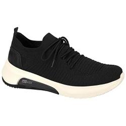 Tênis em Knit para Joanete e Esporão - Preto - ACT4907-101PT - Pé Relax Sapatos Confortáveis
