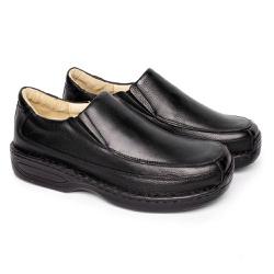 Sapato Preto Masculino Anti Stress - FB16030P - Pé Relax Sapatos Confortáveis