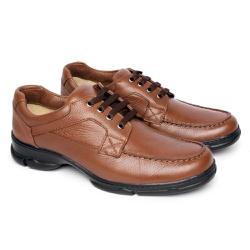 Sapato Masculino Confortável - Marrom - 2002M - Pé Relax Sapatos Confortáveis