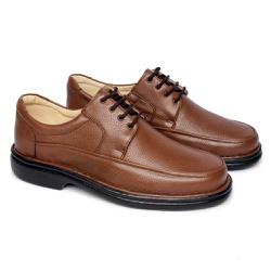 Sapato Masculino Tamanho Grande - Marrom - FB602M - TG - Pé Relax Sapatos Confortáveis