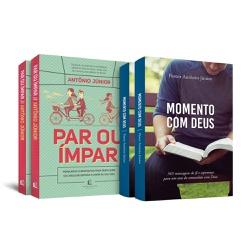 2 Livros Par ou Ímpar + 2 Momento com Deus - cód. ... - Presente Cristão