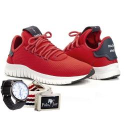 Kit Tênis Masculino Polo Joy Sport Com Relogio e C... - Prime Store Calçados