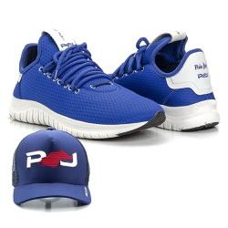 Kit Tênis Masculino Polo Joy Sport Com Boné Azul -... - Prime Store Calçados