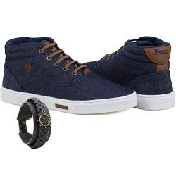 Bota Sapatênis Polo Joy Com Pulseira Jeans - 328JE... - Prime Store Calçados