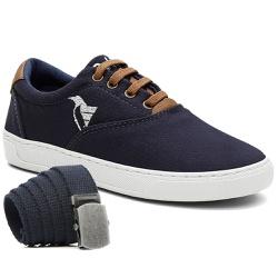 Kit Sapatênis Infantil Polo North C/ Cinto - Azul ... - Prime Store Calçados