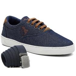 Kit Sapatênis Infantil Polo North C/ Cinto - Jeans... - Prime Store Calçados