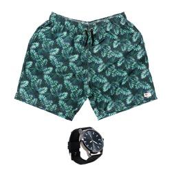 Kit Shorts Praia Estampado Polo North Verde C/ Rel... - Prime Store Calçados