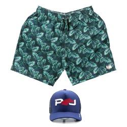 Kit Shorts Praia Estampado Polo North Verde C/ Bon... - Prime Store Calçados