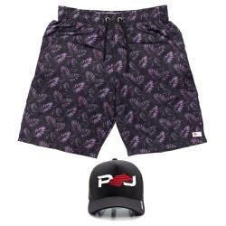 Kit Shorts Praia Estampado Polo North Marrom C/ Bo... - Prime Store Calçados