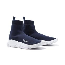 Tênis Meia Polo Joy Socks Azul - 3010AZMRN - Prime Store Calçados