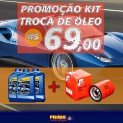 Kit Troca de óleo, 3 Litros de óleo Ipiranga F1-Ma... - PRIMOAUTOPECAS