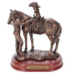 Estátua Resina - Pai e Filha - 16615 - PROTEC HORSE - A LOJA DOS GRANDES CAMPEÕES