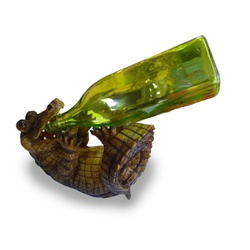 Porta vinho resina - Jacaré - 15177 - PROTEC HORSE - A LOJA DOS GRANDES CAMPEÕES