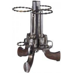 Porta Vinho resina importado - 3 Pistolas - 15180 - PROTEC HORSE - A LOJA DOS GRANDES CAMPEÕES