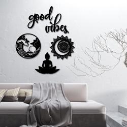 Kit 5 Esculturas de Parede | Decoração Good Vibes ... - Q! Bacana