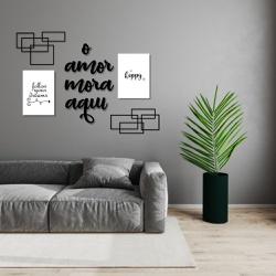 Kit Decoração Amor Mora + Presente (Palavra de Par... - Q! Bacana