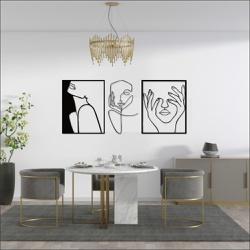 Kit 3 Esculturas de Parede | Decoração Finesse + P... - Q! Bacana