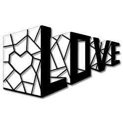 Escultura de Parede Love Geométrico - Q! Bacana