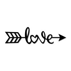 Escultura de Parede Love Flecha - Q! Bacana