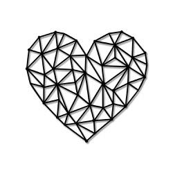 Escultura de Parede Coração Abstrato Geométrico - Q! Bacana