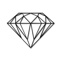 Escultura de Parede Diamante - Q! Bacana