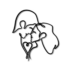 Escultura de Parede Casal - Q! Bacana