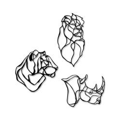 Kit Esculturas de Parede Animais Minimalistas - Q! Bacana