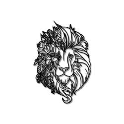 Escultura de Parede Leão Flores - Q! Bacana