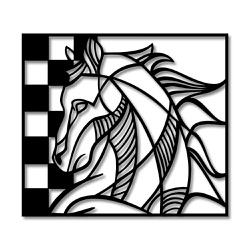Escultura de Parede Cavalo - Q! Bacana