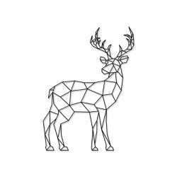 Escultura de Parede Cervo Geométrico - Q! Bacana