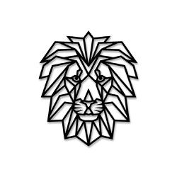 Escultura de Parede Leão Geométrico - Q! Bacana
