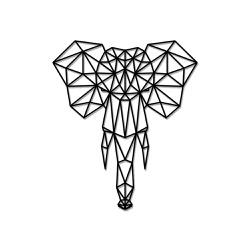 Escultura de Parede Elefante Geométrico - Q! Bacana