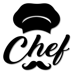 Escultura de Parede Chef - Q! Bacana