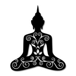 Escultura de Parede Meditação - Q! Bacana