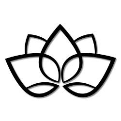 Escultura de Parede Lotus - Q! Bacana