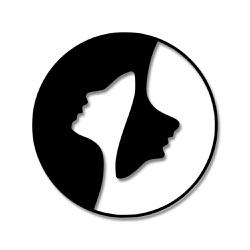 Escultura de Parede Yin Yang Pessoas - Q! Bacana